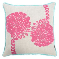 Maxine Sutton Flowertree Pink With Aqua Trim Cushion  These cushions are limited edition and are available exclusively at Heal's