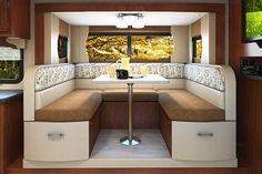 The Lance 2285 Travel Trailer contains a large U-shaped dinette for the whole family! Travel Europe Cheap, Packing Tips For Travel, Bedroom With Bath, No Calorie Snacks, Health Eating, Group Meals, Healthy Living Tips, Entry Doors, Entertainment Center