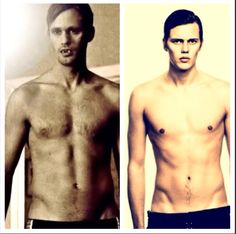 Alexander Skarsgard & his little brother Bill Skarsgard