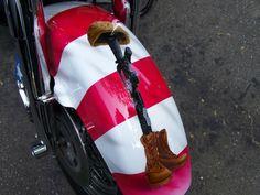 Airbrushed Harley fender