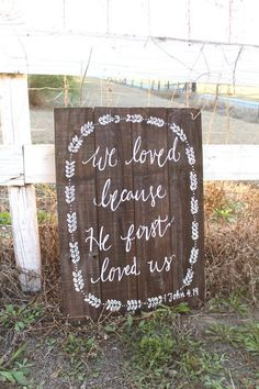Rustic Wooden Wedding Sign  XL Sign  Bible Verse by #Wedding Photos| http://romantic-wedding.lemoncoin.org