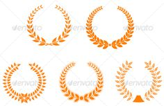 Realistic Graphic DOWNLOAD (.ai, .psd) :: http://jquery.re/pinterest-itmid-1000085981i.html ... Set of laurel wreaths ...  achievement, award, badge, certificate, decoration, frame, laurel, leaf, performance, sign, symbol, top, wheat, winning, wreath  ... Realistic Photo Graphic Print Obejct Business Web Elements Illustration Design Templates ... DOWNLOAD :: http://jquery.re/pinterest-itmid-1000085981i.html