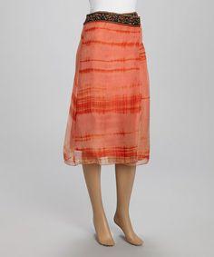 Look what I found on #zulily! Burnt Orange Beaded Skirt #zulilyfinds
