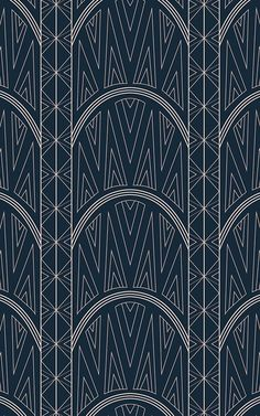 This bespoke Chrysler wallpaper focuses in on the architectural elegance and art deco style details of the iconic building. Art Deco Wallpaper, Dark Wallpaper, Pattern Wallpaper, Chrysler Building, Pink Art, Blue Art, Estilo Art Deco, Triangle Print, Bird Prints
