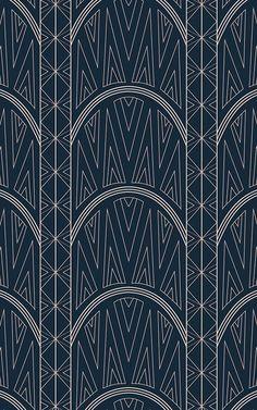 This bespoke Chrysler wallpaper focuses in on the architectural elegance and art deco style details of the iconic building. Wallpaper Art Deco, Dark Wallpaper, Pattern Wallpaper, Chrysler Building, Pink Art, Blue Art, Moda Art Deco, Art Bleu, Estilo Art Deco