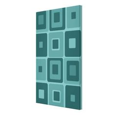 Mod art squares. This is turquoise, but you can change the background colour and make it match your decor. Great idea!