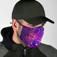 Galaxy Face Mask Filters - Face Mask - Galaxy Face Mask Filters No Mask + Add 60 Filters Day Supply) Most Stylish Men, Stylish Man, Galaxy Design, Red Bandana, Purple Pattern, Elephant Print, Blue Design, Womens Fashion For Work, Face Shapes