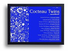 Cocteau Twins Framed Gig Poster Print by indieprints on Etsy, $20.00