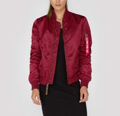 6ecd02b9a009 Alpha Industries MA-1 VF 59 WMN dámska bunda Burgundy