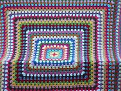 Giant Granny Square Afghan and tutorial