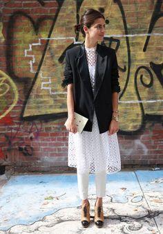 leandra medine dress under pants street style