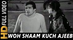 Woh Shaam Kuch Ajeeb Thi   Kishore Kumar   Khamoshi 1969 Songs   Waheeda...