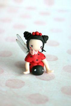 Mini Fairy Figurine par TheDollAndThePea sur Etsy