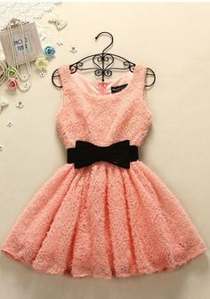 Daily New Fashion : Adorable Coral Bowknot Dress