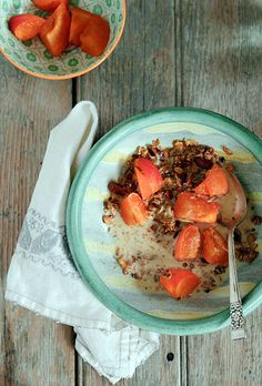 nutty olive oil granola from winnie @ healthy green kitchen -- can't wait to make this!