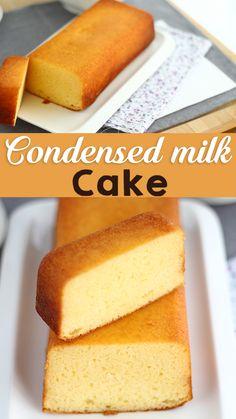 Pound Cake Recipes, Banana Bread Recipes, Easy Cake Recipes, Easy Desserts, Sweet Recipes, Delicious Desserts, Dessert Recipes, Condensed Milk Cake, Cooking Recipes
