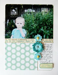 A New Chapter & We Don't Remember Days Scrapbook Layout | Ali Edwards