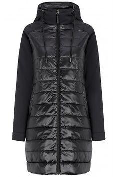 Комбинированное пальто на синтепоне