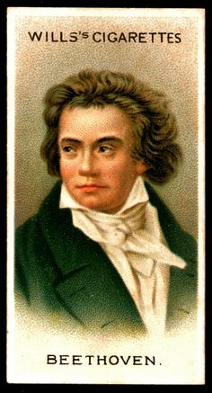 "Cigarette Card. Ludwig van Beethoven. ""Musical Celebrities A Series"""