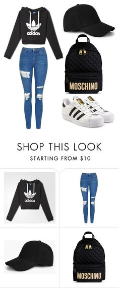 """""""Untitled #57"""" by bvbydest on Polyvore featuring adidas, Topshop, Boohoo, Moschino and adidas Originals"""