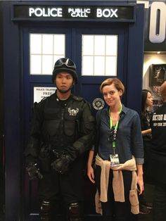 Met some fine U.N.I.T soldiers at #NYCC for @DoctorWho_BBCA