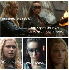 Clexa pick up line lol nailed it