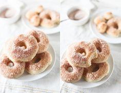cinnamon sugar doughnuts, baked. by hannah * honey & jam, via Flickr