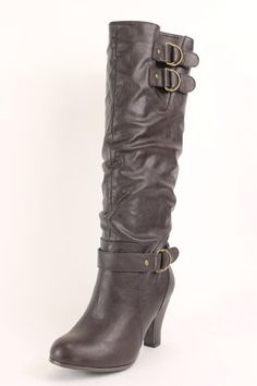 Rampage Eleanor Womens Brown Knee-High Boots