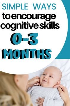 Do you know what cognitive skills look like in your birth to 3 month old baby? Learn what infant development looks like and how to encourage it through playing with your baby . Discover what toys are best to encourage newborn skills as well. 2 Week Old Baby, Baby Month By Month, Baby Learning Toys, Learning Games, Kids Learning, Baby Development By Week, Baby Lernen, Baby Care Tips, Baby Tips