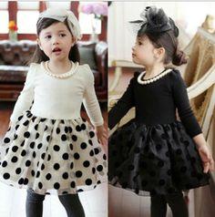 Venda quente 2014 bonito primavera ponto outono rendas crianças meninas vestidos vestido de festa infantis em Roupas & acessórios de no AliExpress.com | Alibaba Group