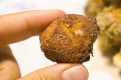 Fried vegan cheese balls & green tomato chutney for the Virtual Vegan Potluck
