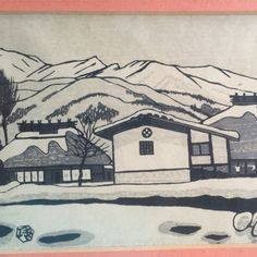 Snow Country: a wonderful Japanese woodblock print from the 1950s by Gihachiro Okuyama