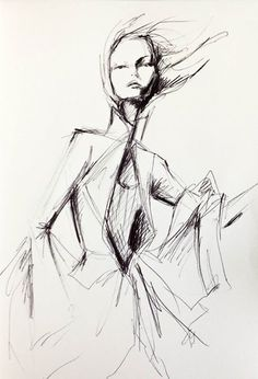 Givenchy pen sketch on Behance