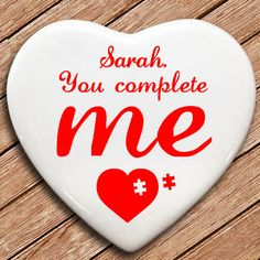 Personalised You Complete Me Heart Keepsake - yourgifthouse