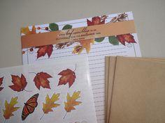 Briefpapier set (10-delig) Autumn leaves