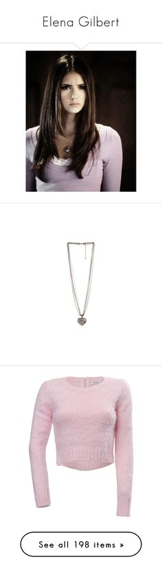 """Elena Gilbert"" by styleskater7 ❤ liked on Polyvore featuring nina dobrev, people - nina dobrev, vampire diaries, jewelry, necklaces, accessories, long pendant necklace, heart shaped pendant necklace, heart-shaped jewelry and heart jewellery"