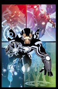 These pics are very cool indeed and I'm loving the stylized Tron look to the suit. But can the new Iron Man ever live up to Tony Stark? Will he, or indeed she (we would assume it's a man – Iron 'MAN') be a permanent fixture, or just a visiting ass kicker? Who the hell knows?