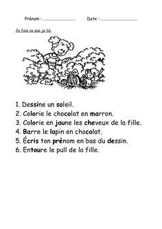 Je lis / Je fais French Teaching Resources, Teaching French, Teaching Tips, Comprehension Exercises, Reading Comprehension, Homework Club, Grade 1 Reading, French Worksheets, French Education