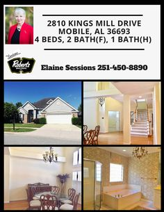 This listing is one to check out in person! Not only does the entrance leave you standing in awe but the space that this home has is unbelievable! Call today to schedule your free showing at 251-450-8890! #TheSessionsTeam #RobertsBrothers #RealEstate