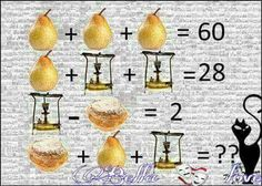 Find More in: www.jsmentales.com www.fb.com/jsmentales Brain Teasers With Answers, Math Talk, Brain Games, Equation, Puzzle, Simple, Puzzles, Brain Breaks, Equality