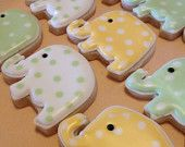 Elephant Cookies decorated birthday theme party or just because reserved for…