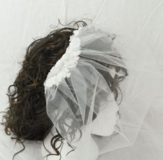 Weddings birdcage veil white tulle netting by AnitaHiltonweddings, £22.50