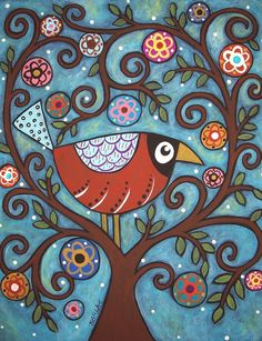 PATTERNS IN FOLK PAINTINGS for kids room wall