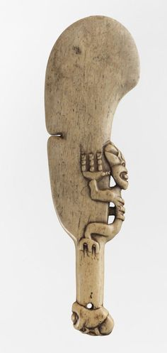 Object: Wahaika paraoa (whale bone striking weapon) | Collections Online…