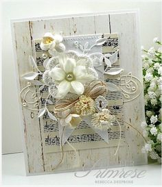 Winter Whites by rebeccadeeprose - Cards and Paper Crafts at Splitcoaststampers ((shabby-chic-cards))