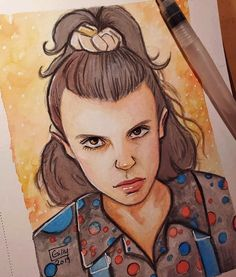 Stranger Things Eleven Millie Bobby Brown Stranger Things Eleven By Gillian Campbell Gillian K Millie Bobby Brown Season 3 Fan Art Fanart Bobby Brown Stranger Things, Stranger Things Season 3, Stranger Things Funny, Eleven Stranger Things, Stranger Things Fan Art, Millie Bobby Brown, Cute Drawings, Drawing Sketches, Drawing Ideas
