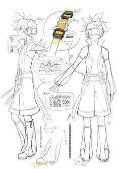 Vocaloid 02 - Len Kagamine~Append concept art