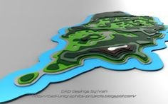 Relief map 3D