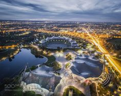 Munich at Night by PetarCule  view view from above Travel City Europe Germany Munich Olympic Rooftops Explore Urban exploration Ur