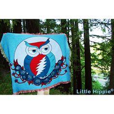 Grateful Dead ~ Grateful Owl Woven Cotton Blanket